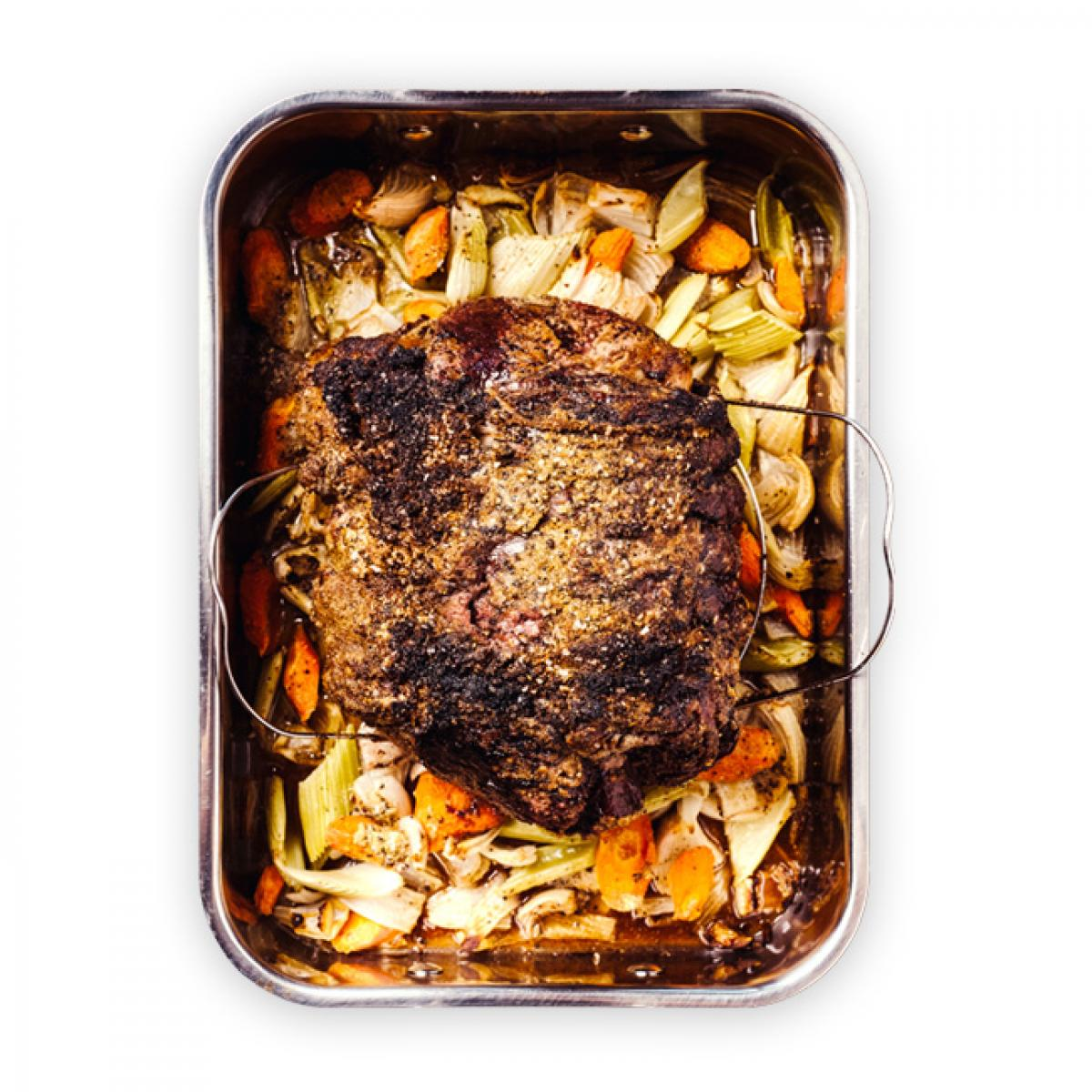 Prime Rib Roast with Spiced Crust plate image
